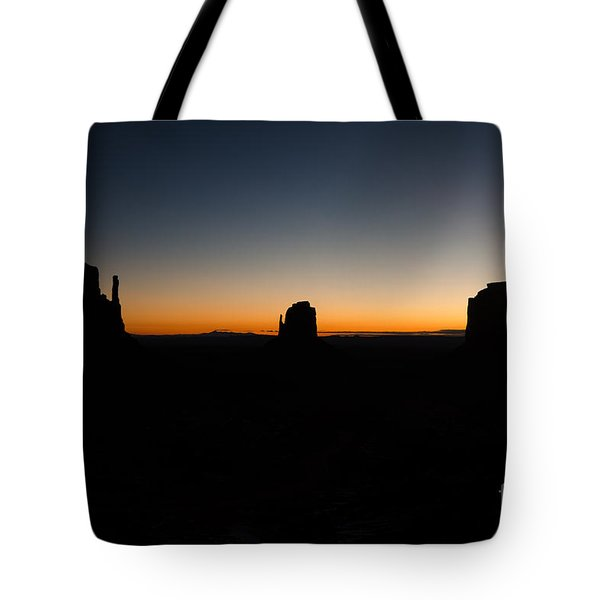 Tote Bag featuring the photograph Monument Valley Sunrise by Jeff Kolker