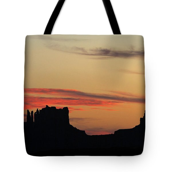 Monument Valley Sunset 1 Tote Bag