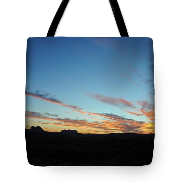 Monument Valley Sunset 2 Tote Bag by Jeff Brunton