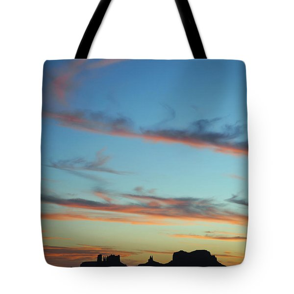Monument Valley Sunset 3 Tote Bag by Jeff Brunton
