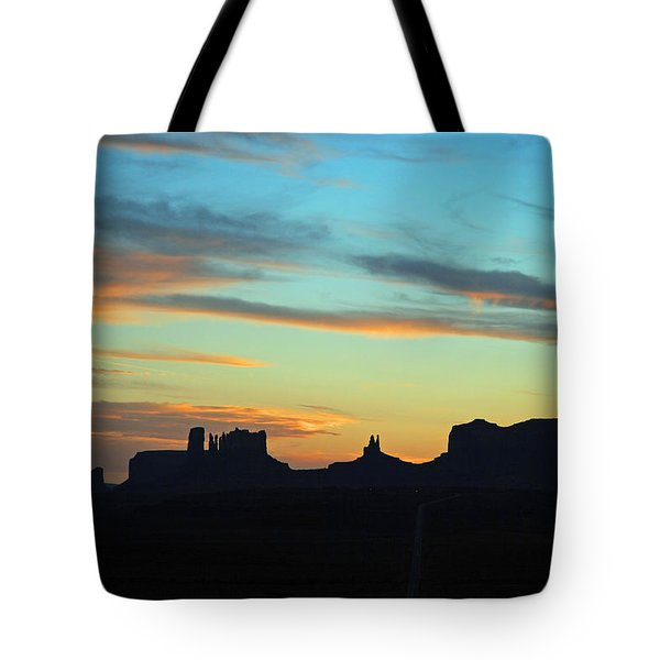 Monument Valley Sunset 4  Tote Bag