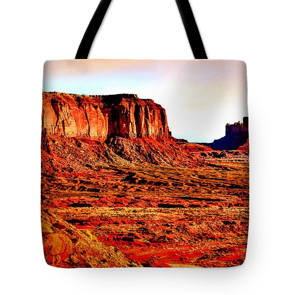 Monument Valley Sunset By Bob Johnston Tote Bag by Bob and Nadine Johnston