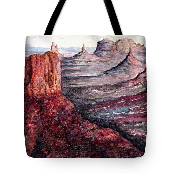 Monument Valley Arizona - Landscape Art Painting Tote Bag