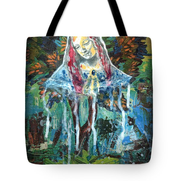 Monumental Tree Goddess Tote Bag by Genevieve Esson