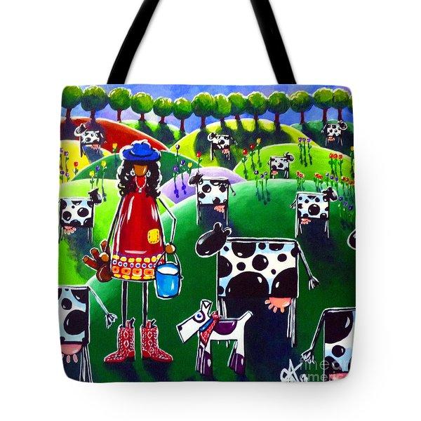 Moo Cow Farm Tote Bag by Jackie Carpenter