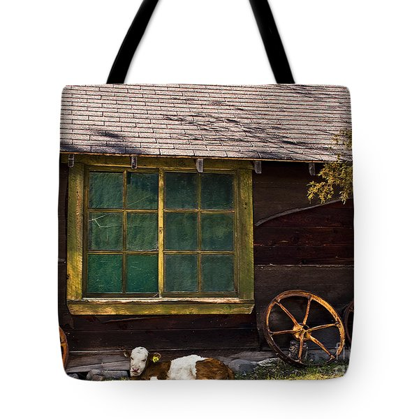 Moo Twenty-two Tote Bag by Sandi Mikuse