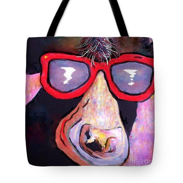 Moo-vie Star Cow Tote Bag by Eloise Schneider