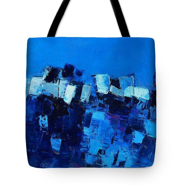 Mood In Blue Tote Bag