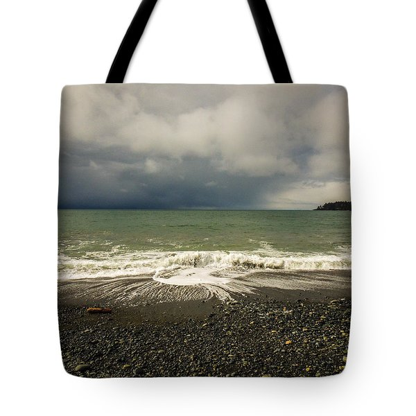 Moody Swirl French Beach Tote Bag