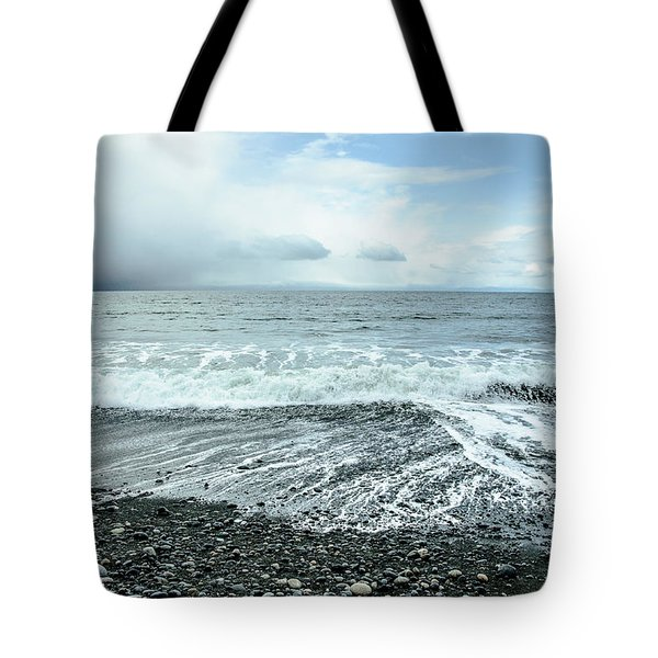 Moody Waves French Beach Tote Bag