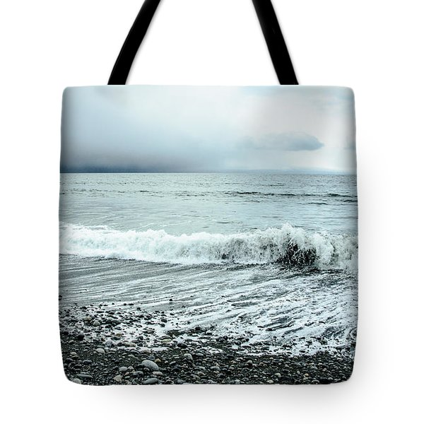 Moody Shoreline French Beach Tote Bag