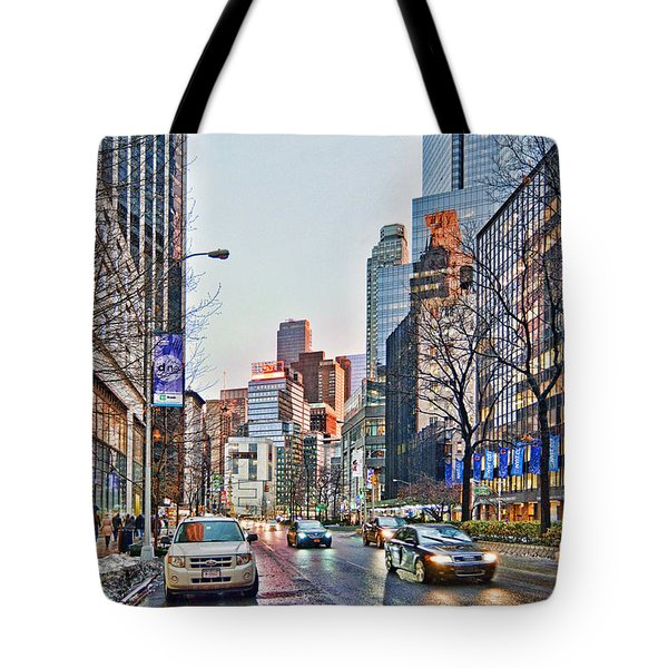 Moody Afternoon In New York City Tote Bag by Jeffrey Friedkin