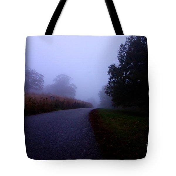 Moody Autumn Pathway Tote Bag
