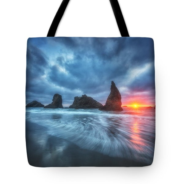 Moody Blues Of Oregon Tote Bag by Darren  White