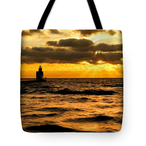 Moody Morning Tote Bag by Bill Pevlor