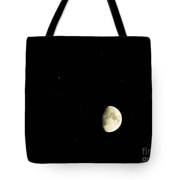 Moon And Jupiter Tote Bag