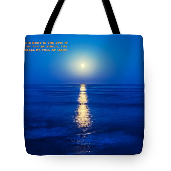 Moon And Light Tote Bag