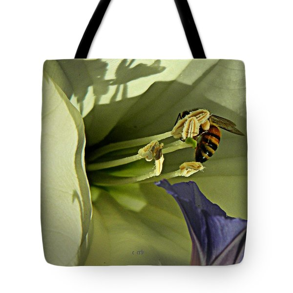 Moon And Morning Tote Bag