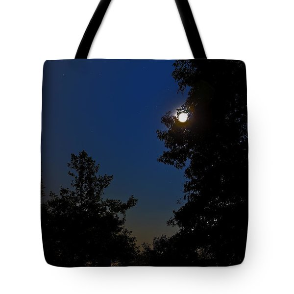 Tote Bag featuring the photograph Moon And Pegasus by Greg Reed