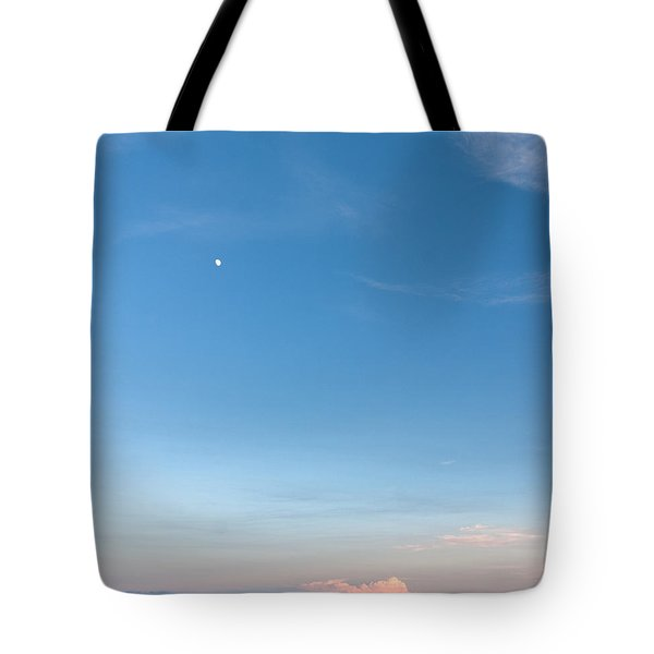 Moon And Pink Cloud Tote Bag by Michelle Wiarda