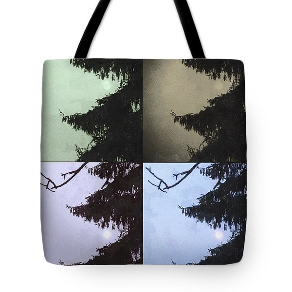 Tote Bag featuring the photograph Moon And Tree by Photographic Arts And Design Studio