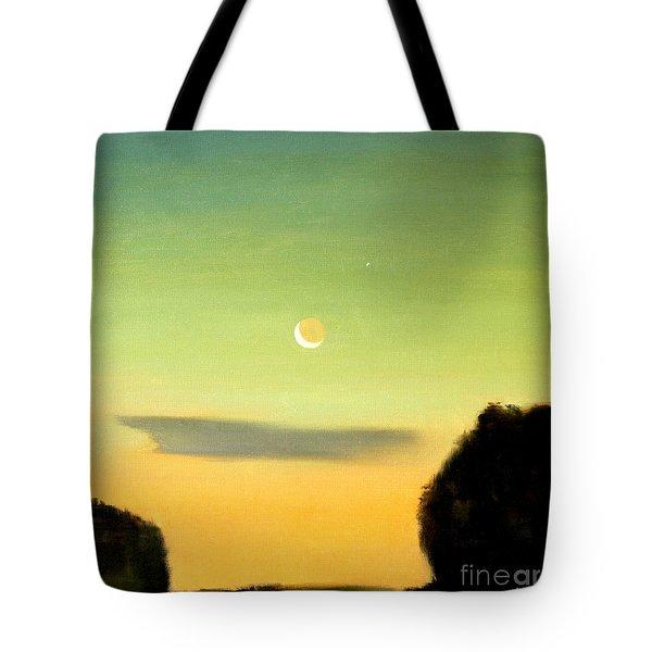 Moon And Venus Tote Bag