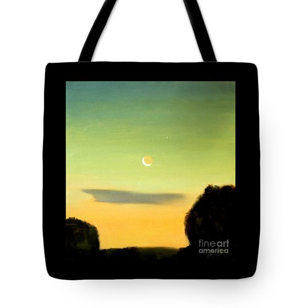 Moon And Venus Tote Bag