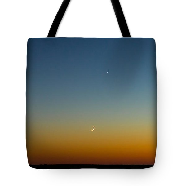 Moon And Venus I Tote Bag by Marco Oliveira