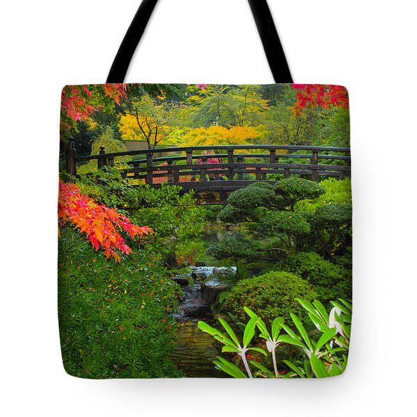 Moon Bridge To Enchantment Tote Bag by Patricia Babbitt
