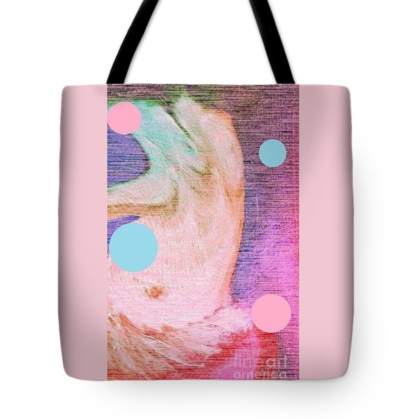Tote Bag featuring the painting Moon Dance by Ann Calvo