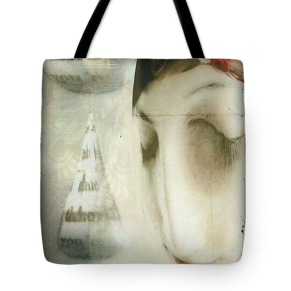 Tote Bag featuring the digital art Moon Face by Delight Worthyn