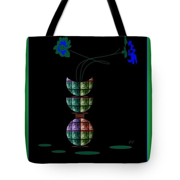 Tote Bag featuring the digital art Moon Flower 1 by Ann Calvo