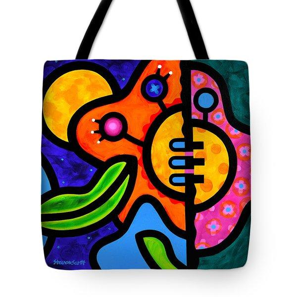 Moon Flower Tote Bag