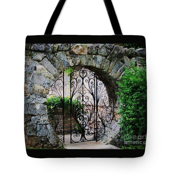 Moon Gate In Hamilton 1 Tote Bag by Marcus Dagan