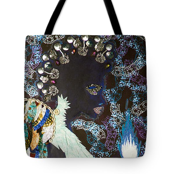 Moon Guardian - The Keeper Of The Universe Tote Bag by Apanaki Temitayo M