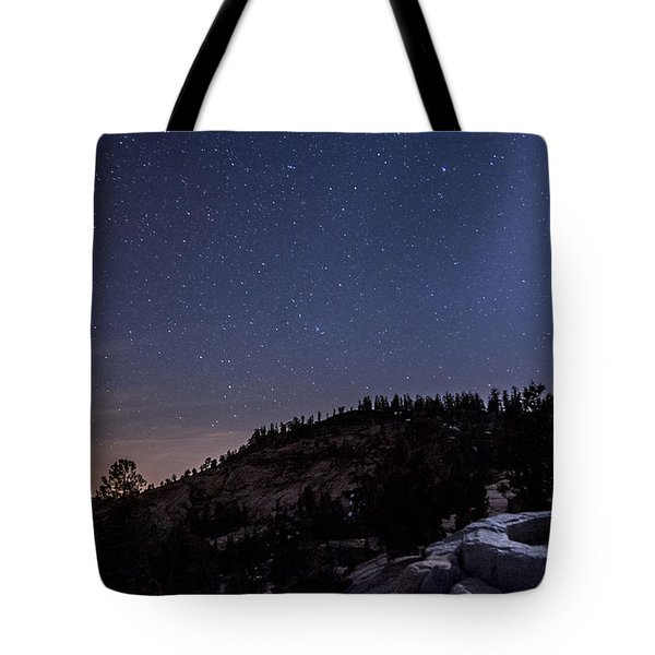 Moon Light At Olmstead Point Tote Bag by Cat Connor
