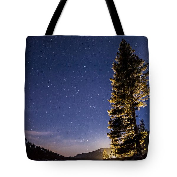 Moon Light Over Tenaya Lake Tote Bag by Cat Connor