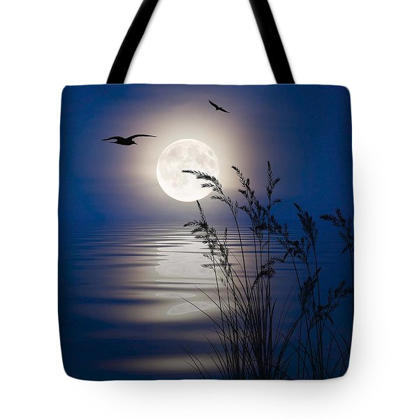 Moon Light Silhouettes Tote Bag by Nina Bradica