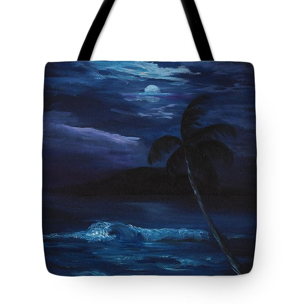 Moon Light Tropics Tote Bag
