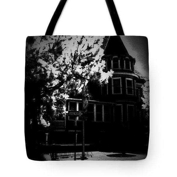 Tote Bag featuring the photograph Moon N U by Robert McCubbin