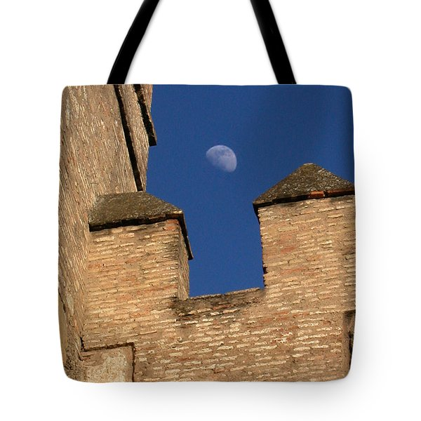 Moon Over Alcazar Tote Bag