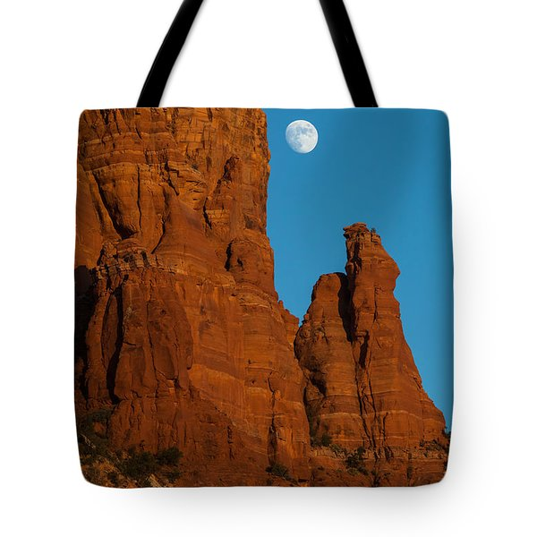 Moon Over Chicken Point Tote Bag by Ed Gleichman