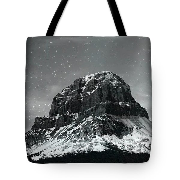 Moon Over Crowsnest Tote Bag by Alyce Taylor