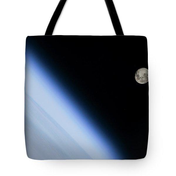 Moon Over Earth Tote Bag
