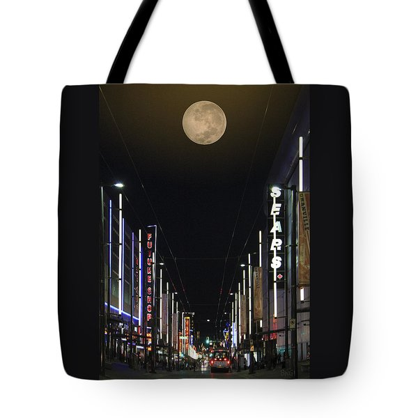 Moon Over Granville Street Tote Bag by Ben and Raisa Gertsberg