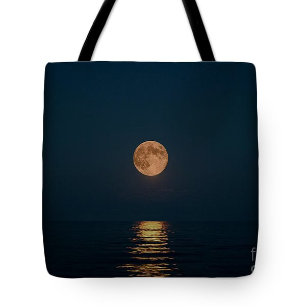 Moon Over Lake Of Shining Waters Tote Bag