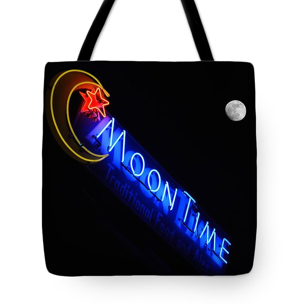 Moon Over Moon Time Tote Bag