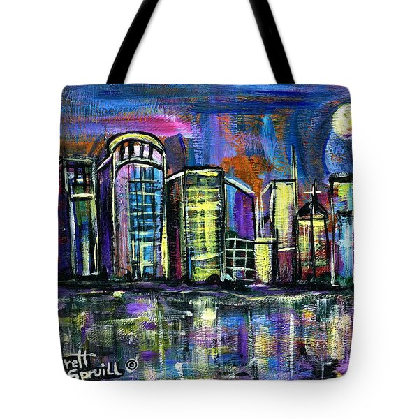 Moon Over Orlando Tote Bag