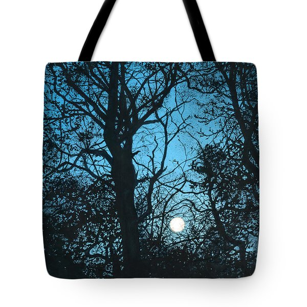 Moon Over Pittsburgh Tote Bag by Barbara Jewell
