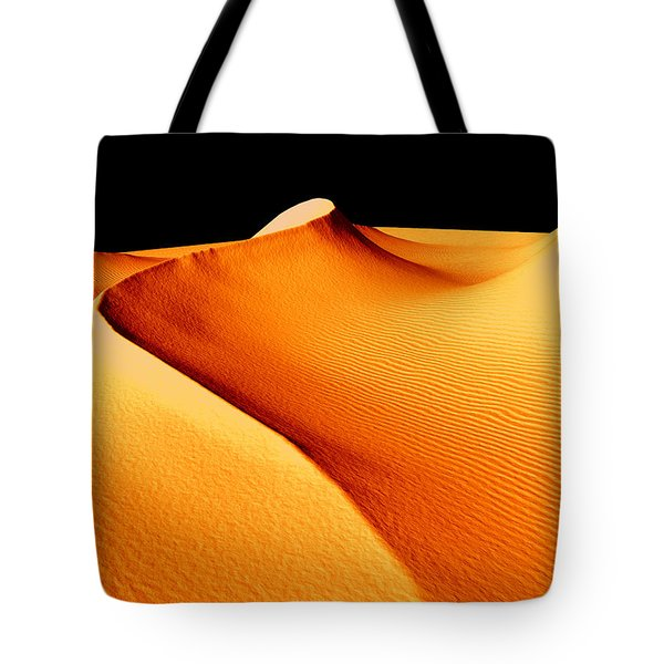 Moon Over Sand Dunes Tote Bag